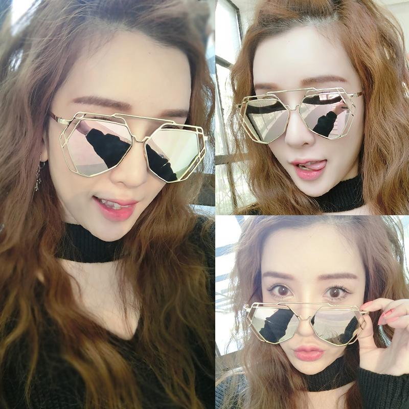 2018新款韩版潮女士明星墨镜男太阳眼镜个性驾驶司机网红复古圆脸