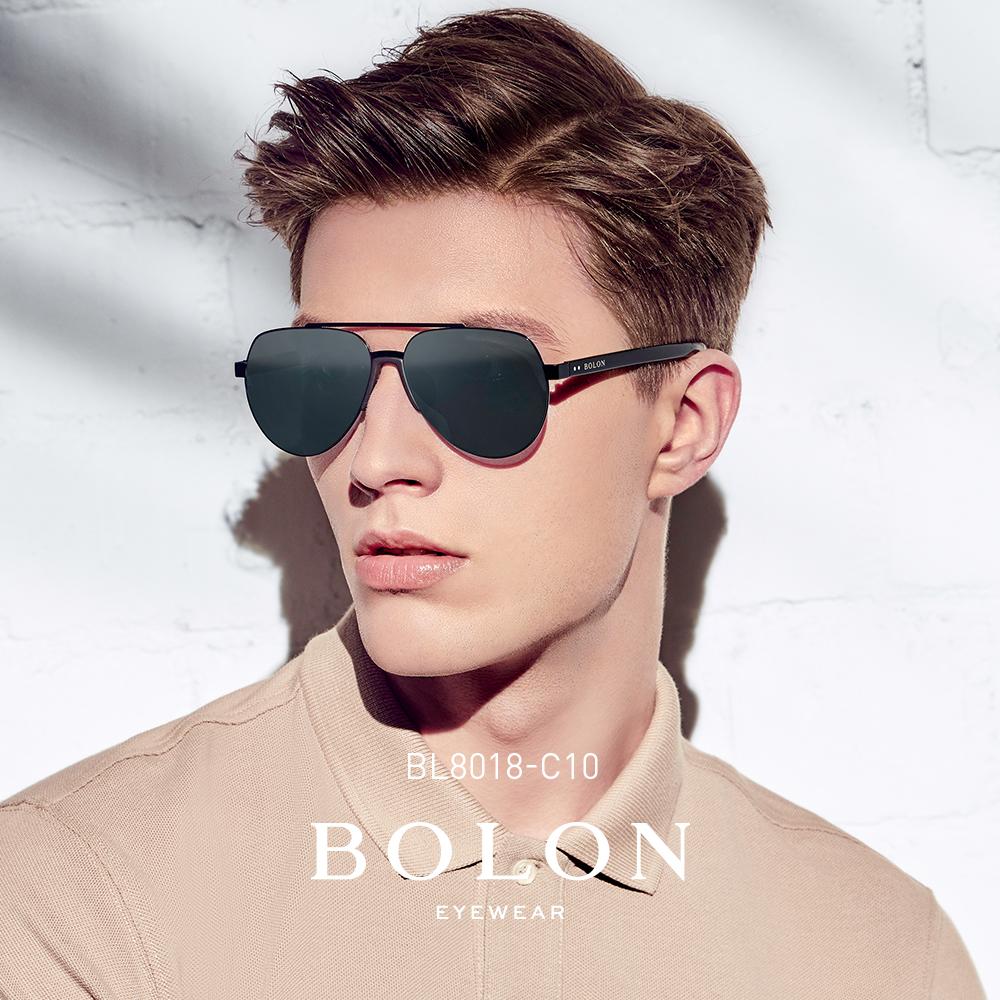 BOLON暴龙偏光太阳镜男复古蛤蟆镜潮流金属框墨镜开车眼镜BL8018