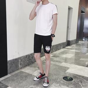 夏装2019新款套装男休闲春夏运动潮牌两件套男丅恤短袖t恤潮流