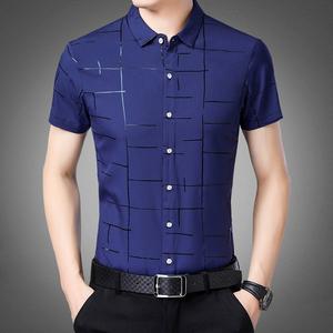 纽布朗衬衫男长袖中年人商务休闲男装新款寸衣品牌潮流男士衬衣