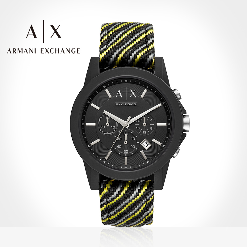 Armani Exchange 阿玛尼时尚休闲男士户外运动防水石英手表AX1334