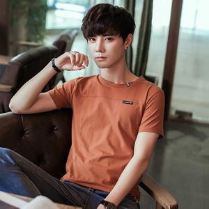 19新款夏季时尚季潮流韩版圆领校园T恤衣服打底衫卫衣男士短袖t恤