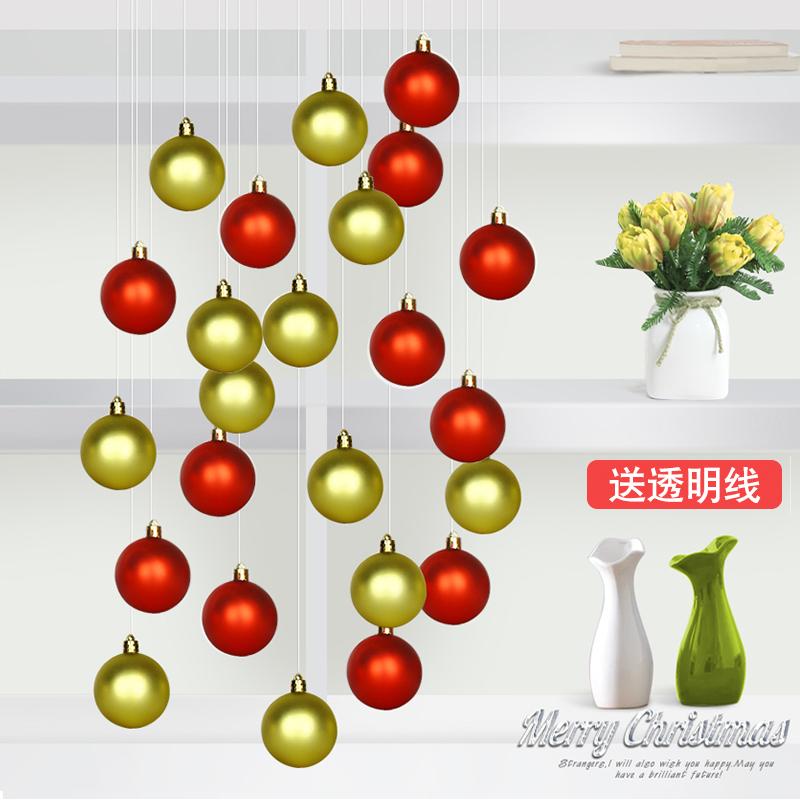 Рождественские украшения Новогодние шары шары Новогодние украшения торгового центра окна отеля место расположения поставляет Рождество кулон дерево