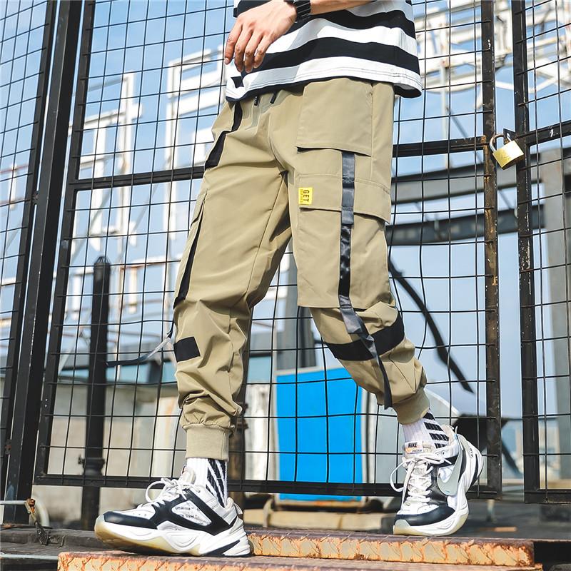 素巴伦 工装薄款百搭束脚裤