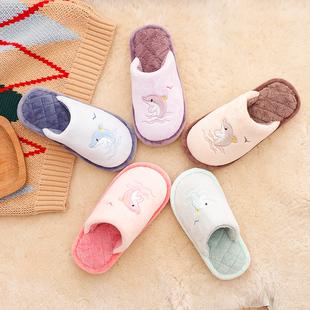 秋冬季儿童棉拖鞋女室内居家卡通拖鞋情侣毛毛一家三口亲子拖鞋男
