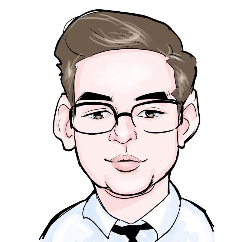 00元】ps转手绘真人照片肖像漫画q版画像素描画定制头像生日黑白