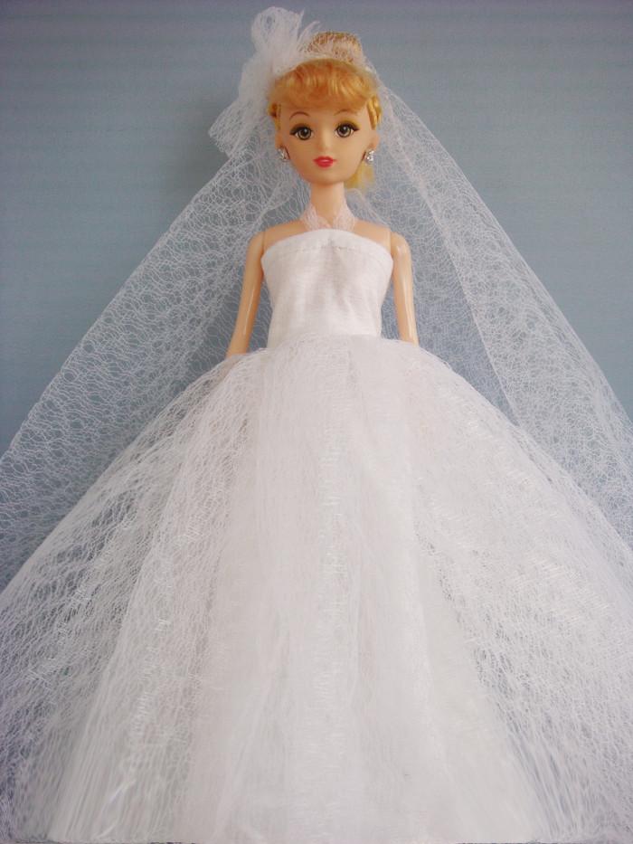 手工diy布艺创意制作 芭比娃娃网纱/婚纱裙