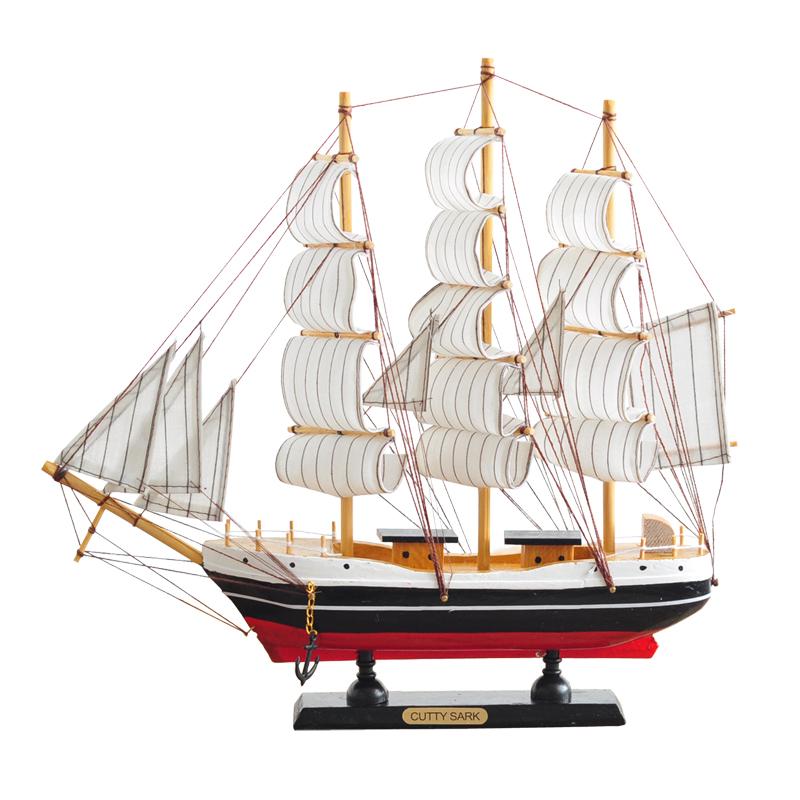 北欧式の帆船の置物の木質の美式の客間のテレビ局の酒箱の復古のアイデアモデルの家居の柔らかい装飾品,タオバオ代行-代行奈々