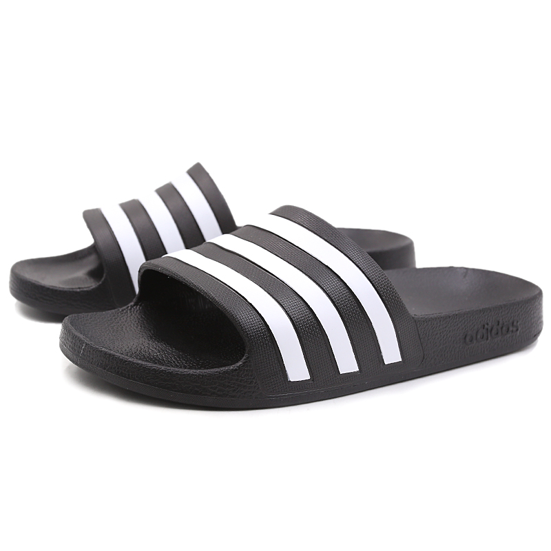 d05d3e96ef3d Adidas slippers 2019 new summer word drag men s shoes women s shoes couple sports  casual sandals beach shoes