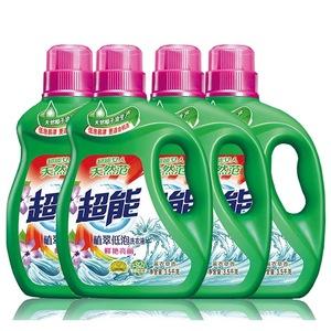 超能洗衣液3.5kg整箱4瓶28斤家庭装机洗薰衣草植翠低泡一瓶7斤装