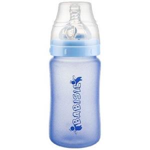 贝儿欣新生儿玻璃奶瓶宽口径 0-6-18个月婴儿宝宝奶瓶玻璃防爆