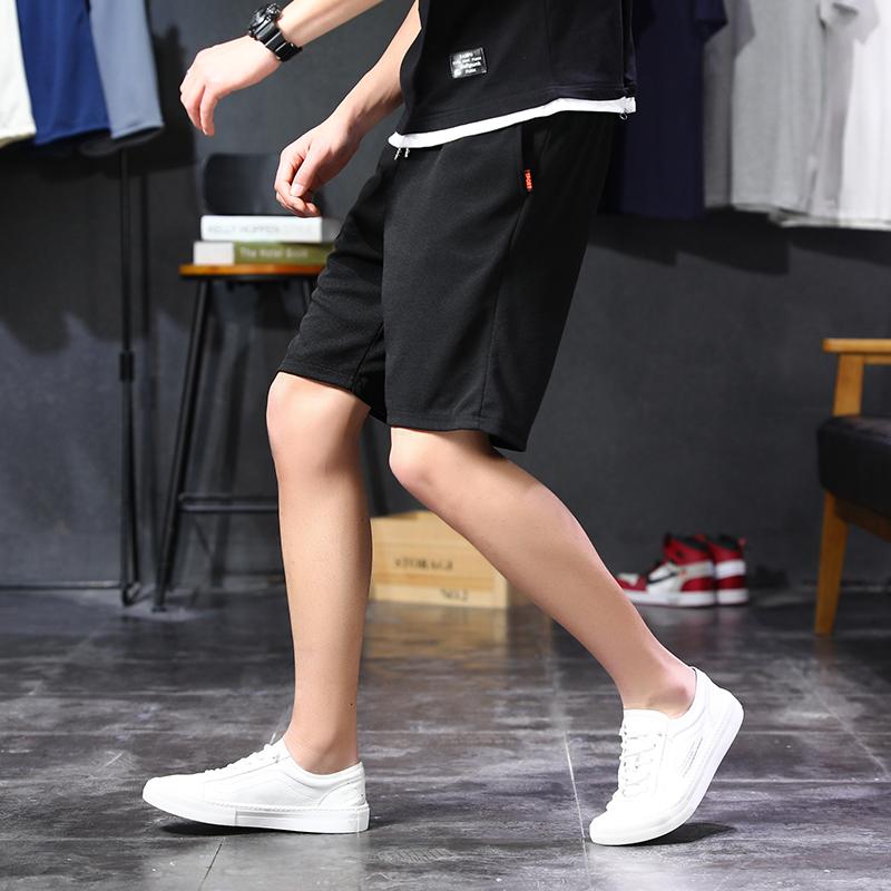 2020夏季新款短裤韩版潮流运动七分裤休闲裤男士宽松中裤薄款