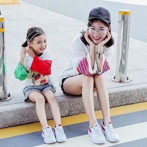 女童透气小白鞋2018秋季新款韩版鞋子潮儿童网面亲子运动鞋男童鞋