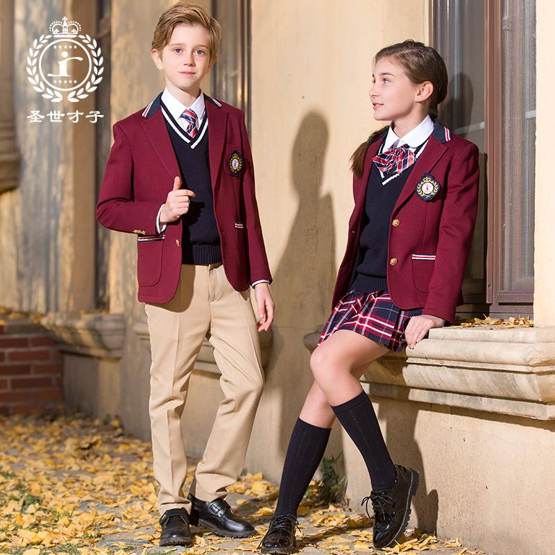 【圣世才子】英伦中学生校服套装礼服男
