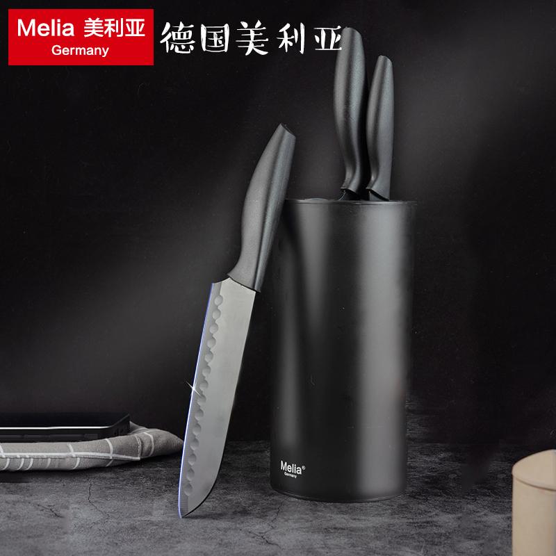 德国美利亚科隆黑刃刀具套装防锈厨房家用水果刀厨师刀切片刀