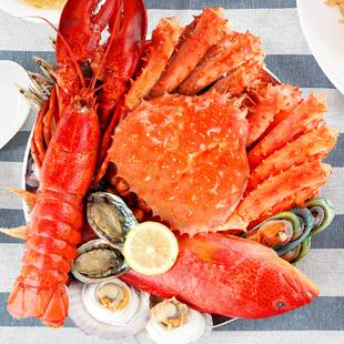 环球海鲜礼盒海鲜大礼包冷冻生鲜水产套餐年货置办雪蟹海鲜礼包
