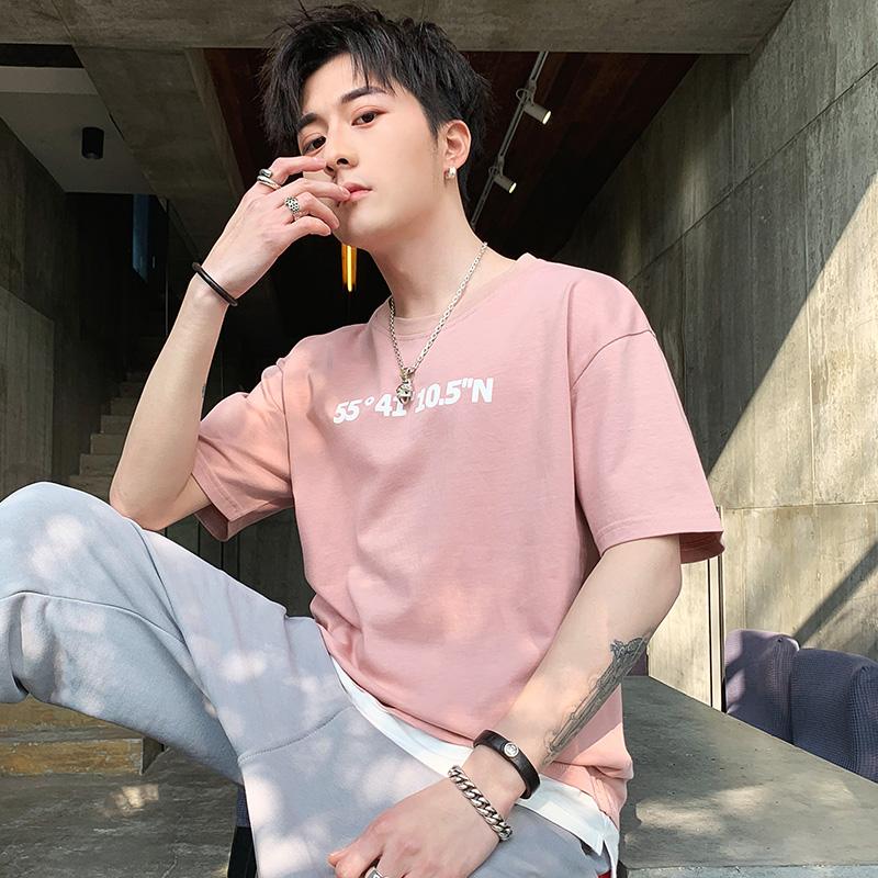 2019新款男士短袖t恤潮牌丅半袖体桖韩版潮流夏季男装修身上衣服
