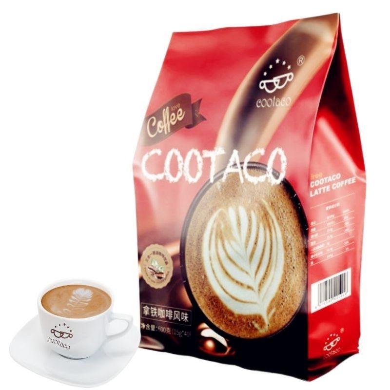 可布可意式拿铁速溶咖啡袋装40条特浓提神学生饮品三合一黑咖啡粉
