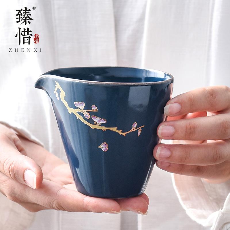 """Precious little ji blue household ceramics fair keller points to the machine manual kung fu tea tea set and a cup of hot sea and a cup of tea"