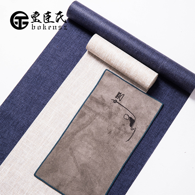 Treasure minister 's flax waterproof tea table flag zen tea shade cotton cloth table XiFangBu mat tea accessories