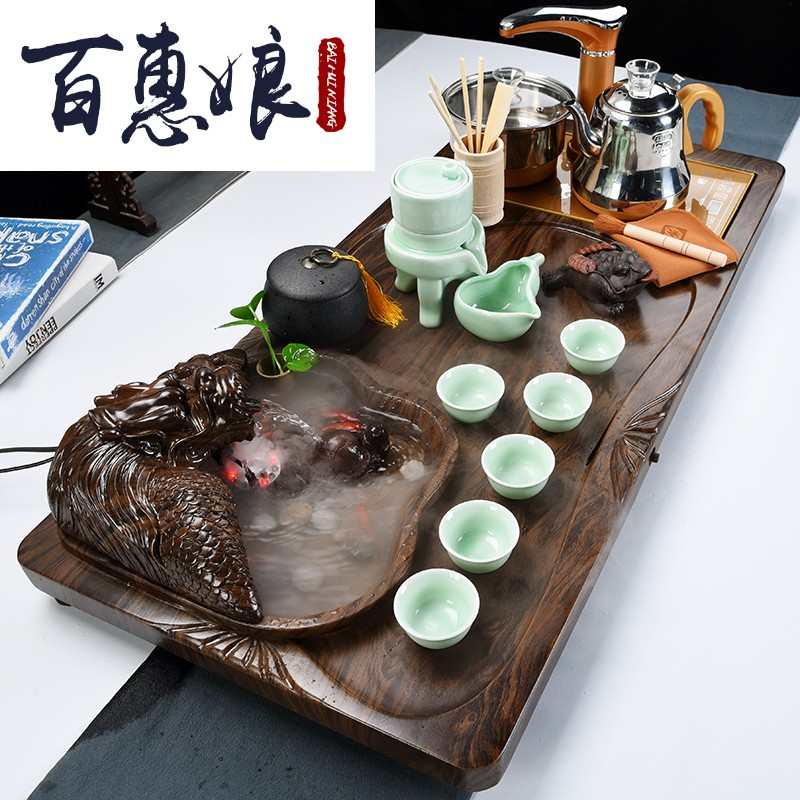 (niang ceramic tea set contracted household kunfu tea automatic sitting room tea Chinese tea tea tea tray