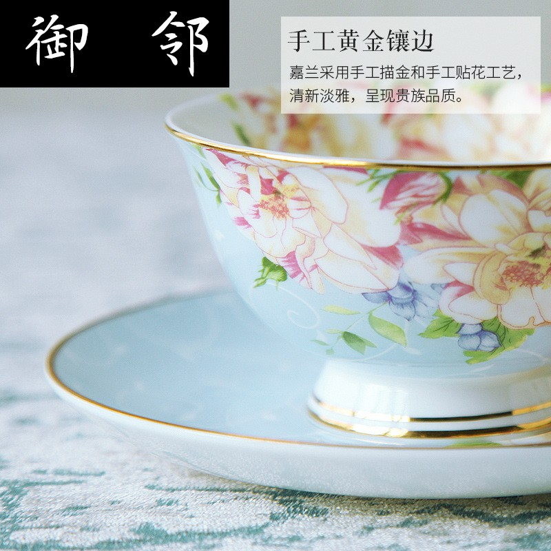 Propagated ipads China coffee suit European afternoon tea home 15 pieces of pottery cups and saucers combination western red teapot