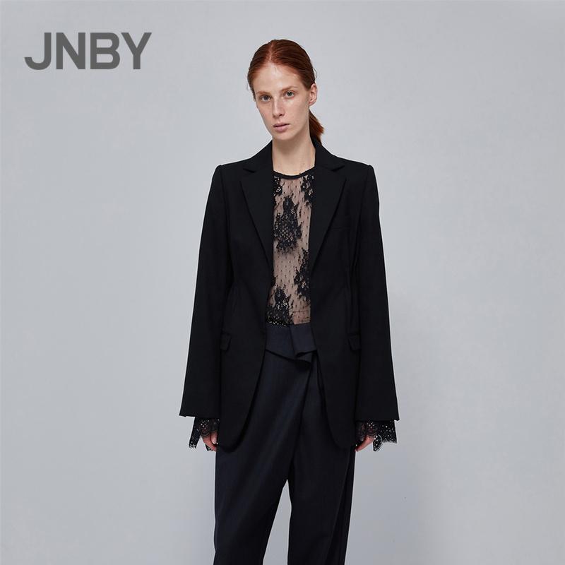 JNBY-江南布衣2018春新款翻领西装呢外套女5IB211160