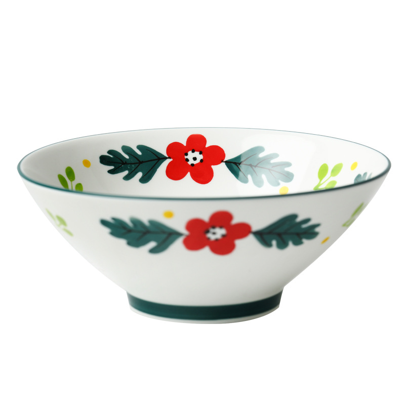 Japanese hand - made ceramic rainbow such to use domestic large rainbow such always pull hat to 8 inch deep bowl of soup bowl bowls bowl of creative move