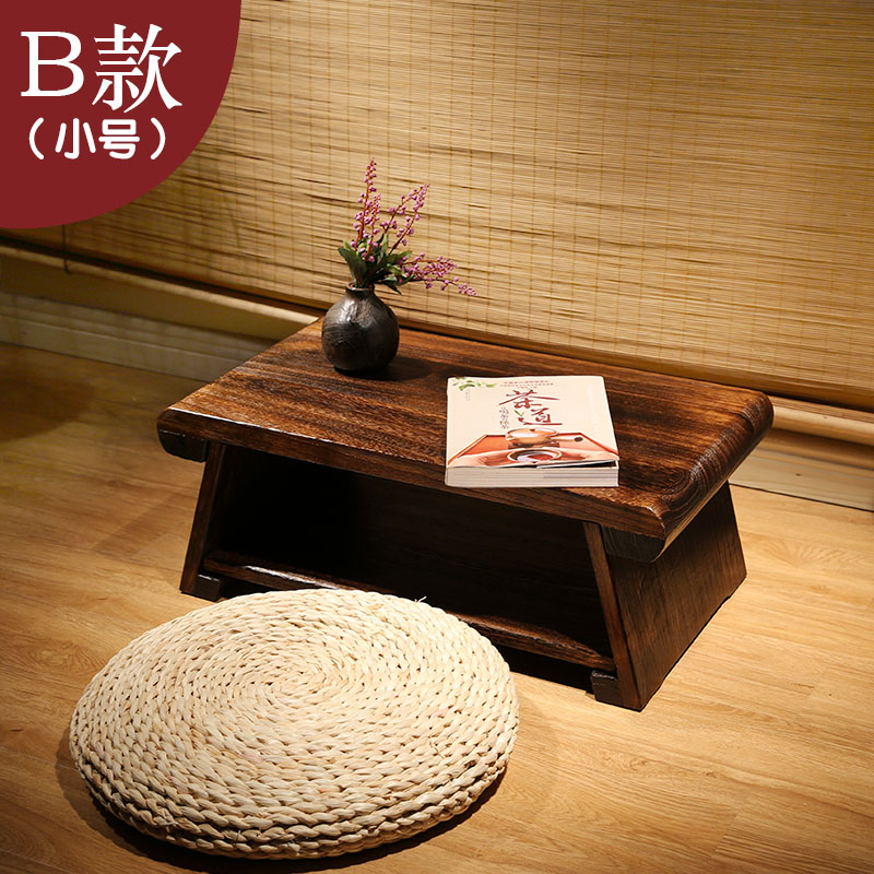 Solid Wood Foldable Bay Window Table Tatami Coffee Table Balcony Small Table  Home 炕 Table 炕 A Few Small Tea Table Table