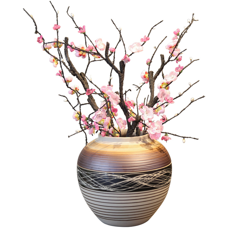 The New Chinese jingdezhen ceramic vase mesa place simulation flowers between artificial flowers decorate the sitting room, dining - room example