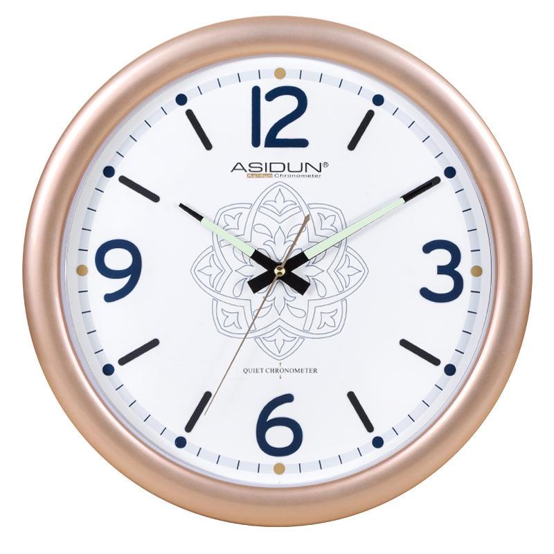 艾时顿 北欧电子石英客厅挂钟