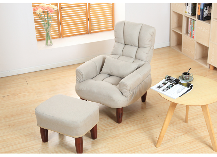 Japanese lazy sofa single fabric casual tatami TV computer chair lunch break pregnant women breastfeeding chair elderly chair