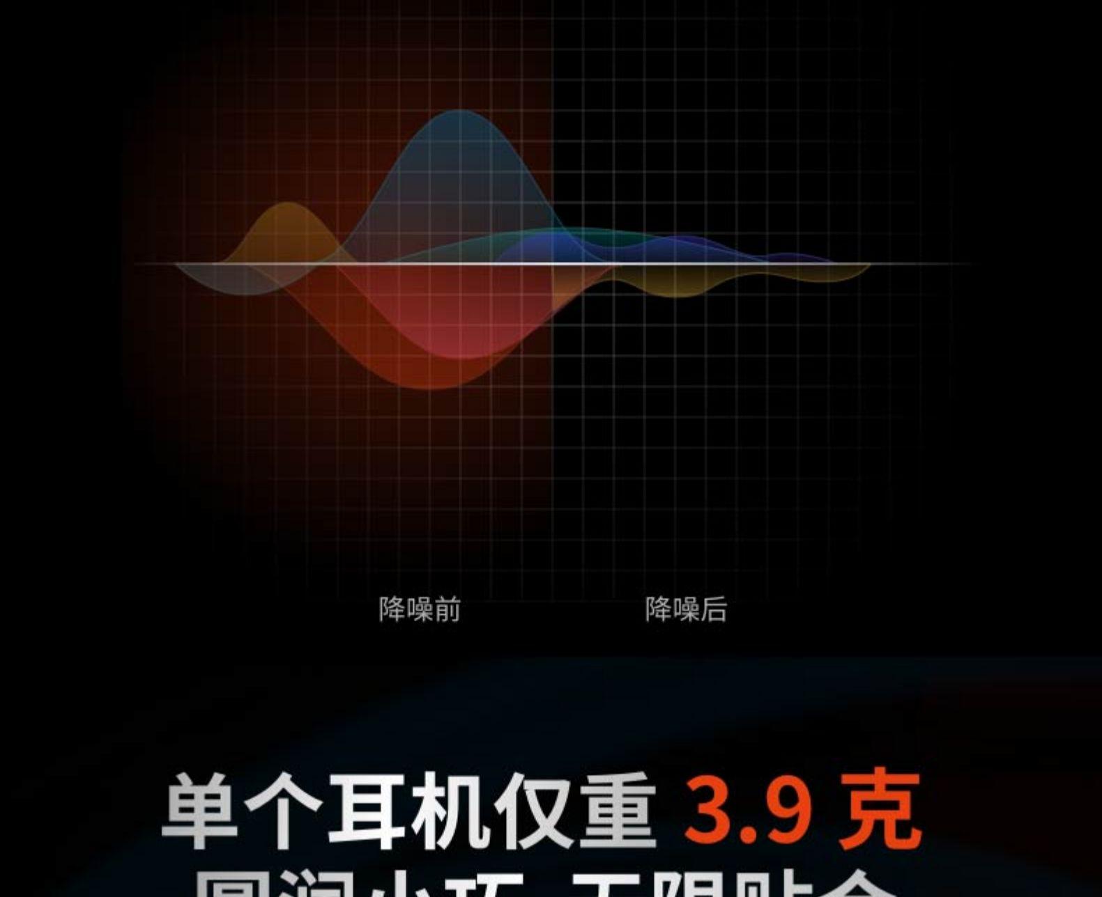 降噪前降噪后单个耳机仅重3.9克-推好价 | 品质生活 精选好价