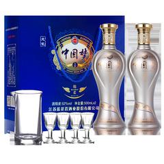 龙瓷中国梦白酒52度特价纯粮食老酒送礼品套盒2瓶装原浆酒浓香型