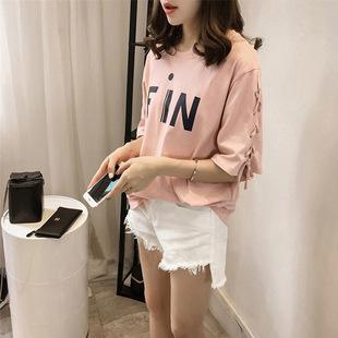 2019夏季新款韩版短袖T恤女士宽松大码半袖上衣女装2