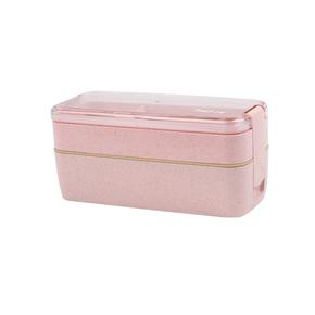 小麦日式多层便当盒微波炉饭盒带盖