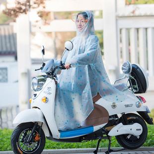 雨衣带袖电动车摩托车单人透明成人电车男女有袖电瓶车自行车雨披