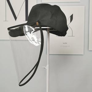 防飞沫渔夫帽子女韩国百搭新款遮阳帽防晒病毒防护帽棒球帽贝雷帽