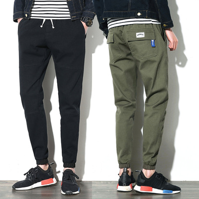 Men's pants winter 2017 new spring Slim feet Korean fashion students wild beam pants pants