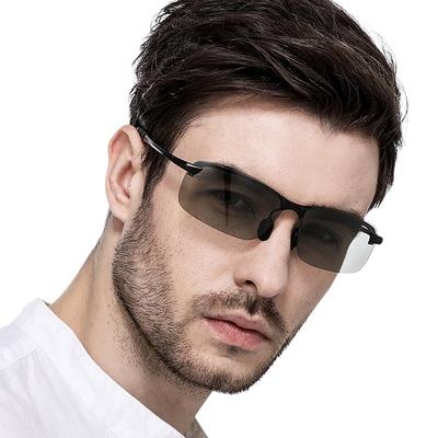 日夜两用偏光变色眼镜驾驶太阳镜男司机开车钓鱼潮人眼睛男士墨镜