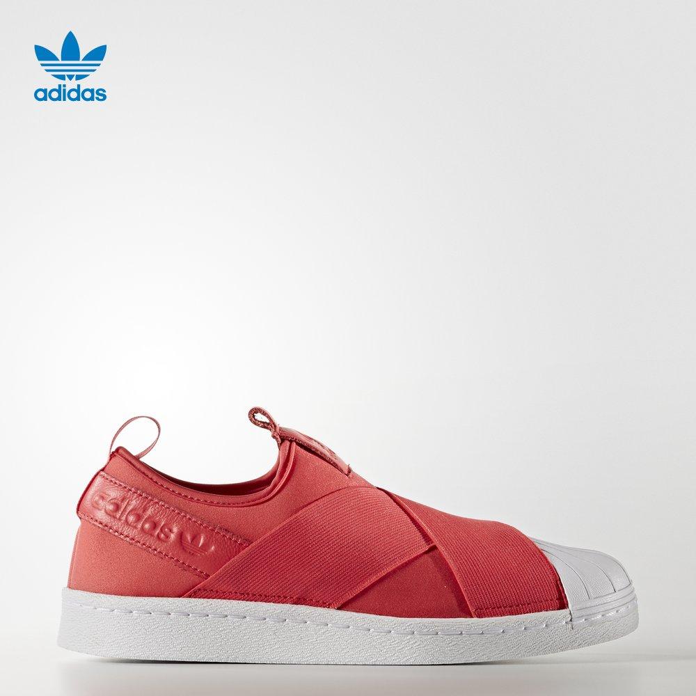阿迪达斯adidas 官方 三叶草 女子 经典鞋 SUPERSTAR SlipOn W