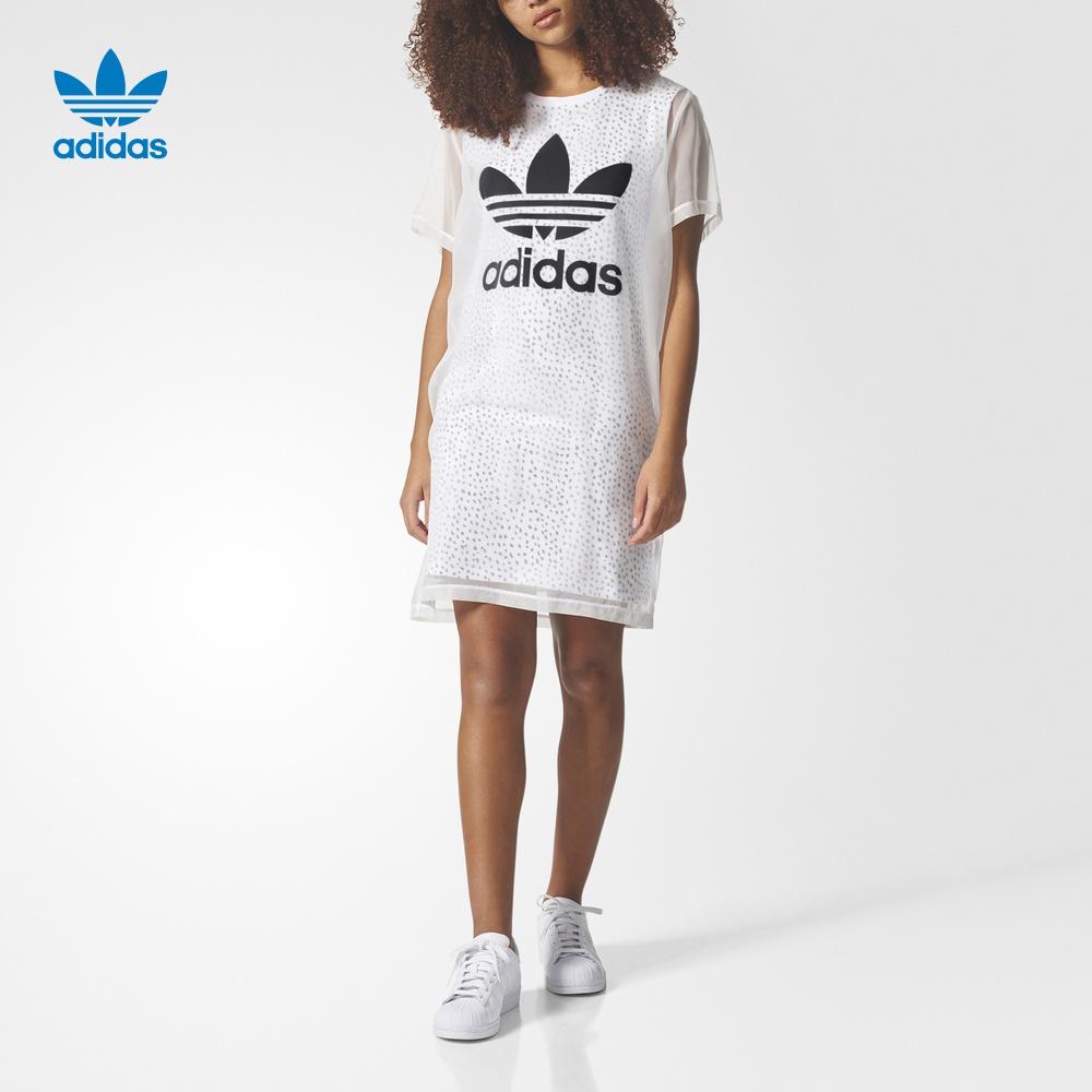 adidas 阿迪达斯 三叶草 女子 裙子 白 CG1561