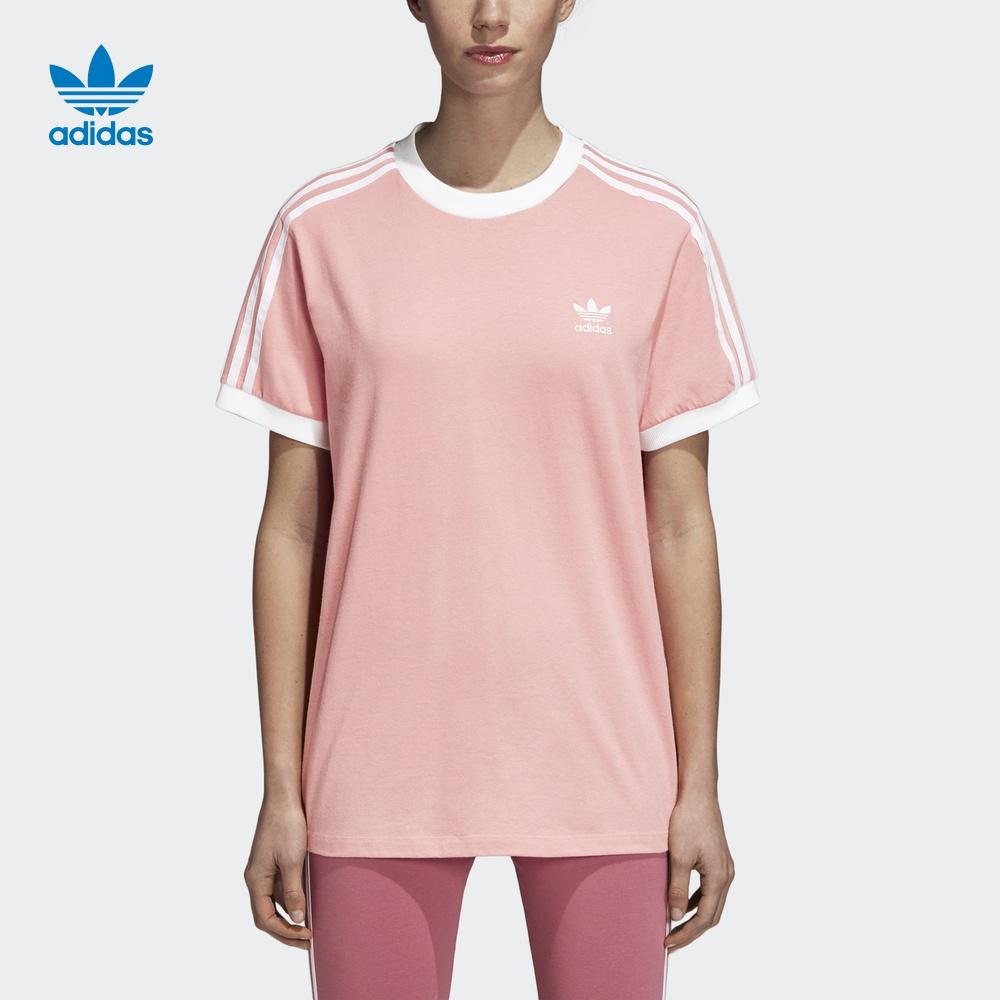 阿迪达斯官方 三叶草 女短袖T恤 DH4423 CY4754 CY4751 DH3186