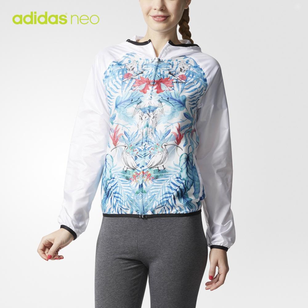 阿迪达斯官方adidas neo W FV ART WB 女子 防风服