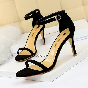 126-A9 euramerican fashion contracted fine with high 126 - word with sexy nightclubs with suede peep-toe heels women san