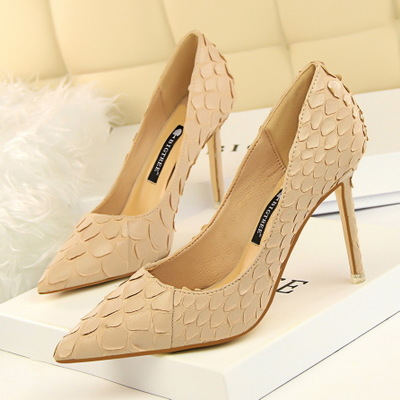 518-18 European and American wind restoring ancient ways women high-heeled shoes high heel with shallow pointed mouth th