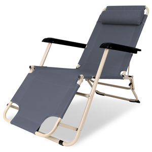 创悦折叠椅便携办公椅户外椅子休闲家用午休床加长两用躺椅单人椅