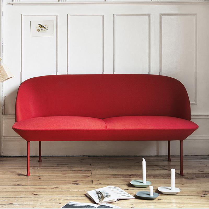 北欧OSLO复刻单人双人位沙发极简样板房沙发简约设计师三人沙发