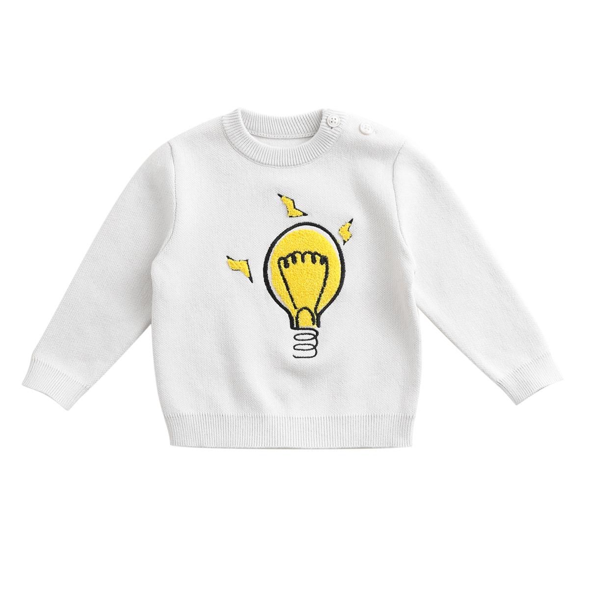 马克珍妮2018新款秋冬装 男童儿童毛衣 婴儿宝宝纯棉毛线衫82725