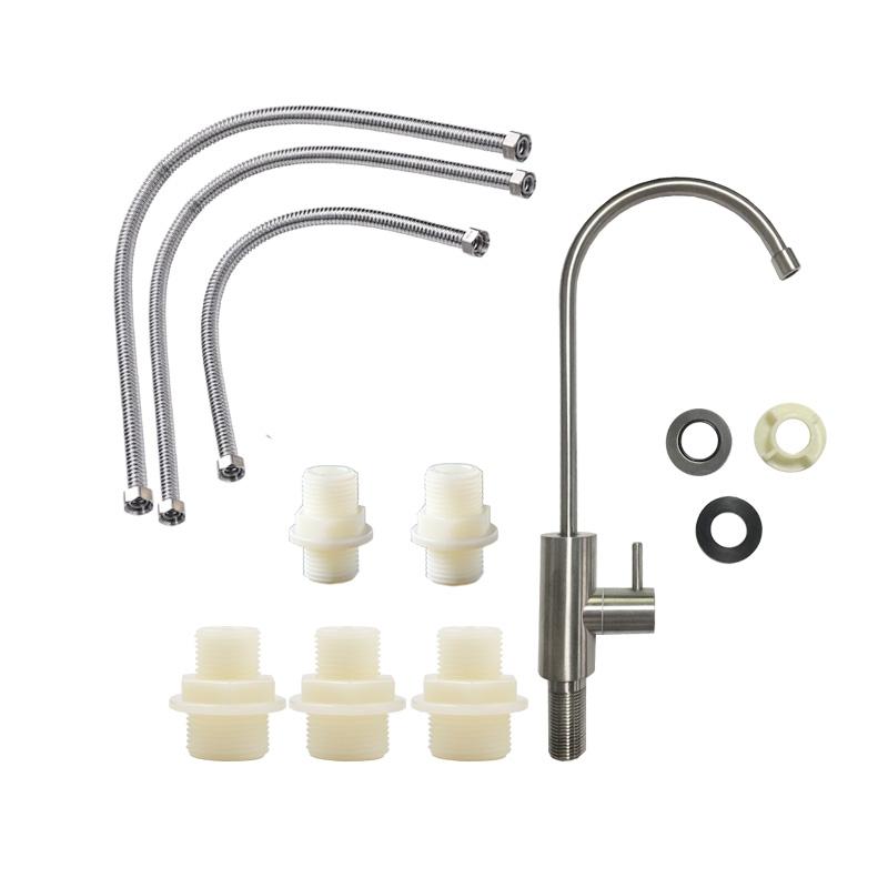 立升 家用 厨房 净水器 含鹅颈龙头 PE管 波纹管 直通 标准配件包